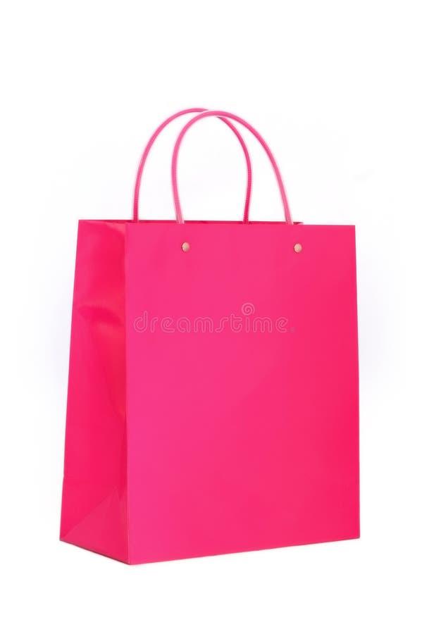 Vibrant Pink Shopping Bag Stock Photo