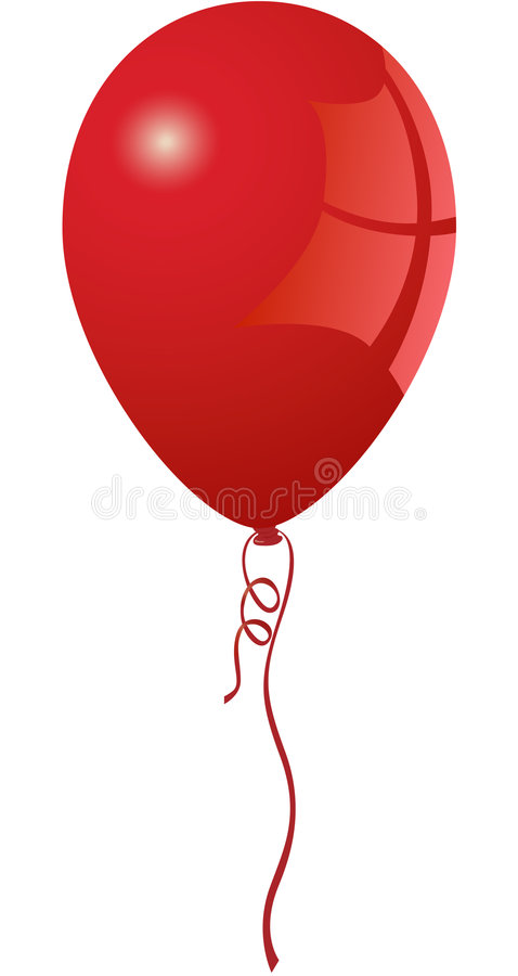 Vibrant Red Balloon Stock Images