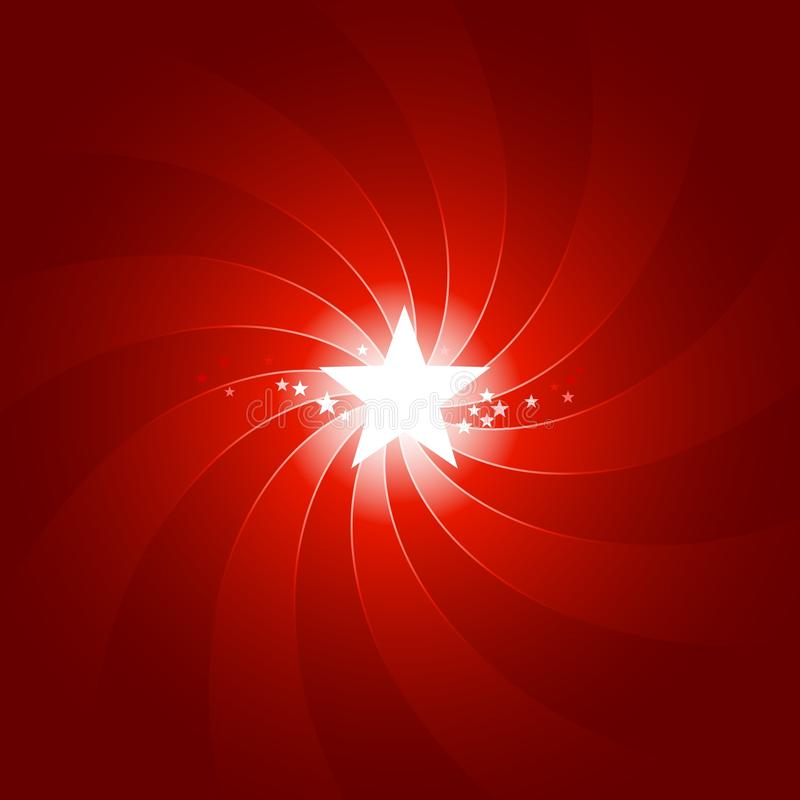 Free Vibrant Red Light Burst With Shining Center Star Royalty Free Stock Photo - 11649365