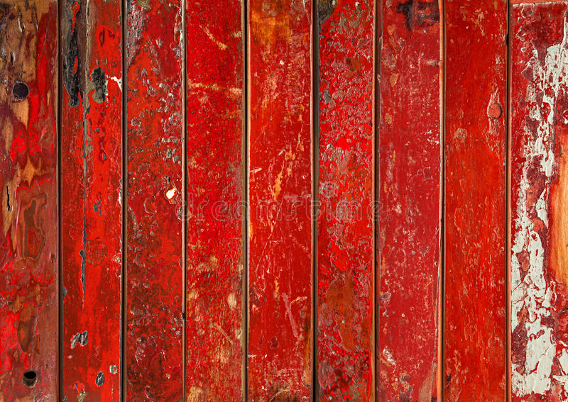 Vibrant red wooden background royalty free stock image