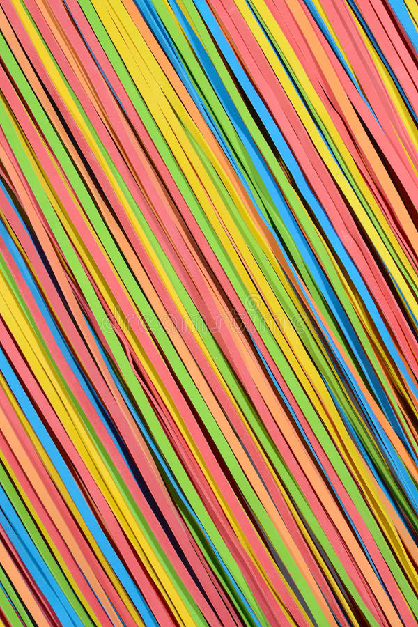 Small rubberband strips diagonal pattern stock photography