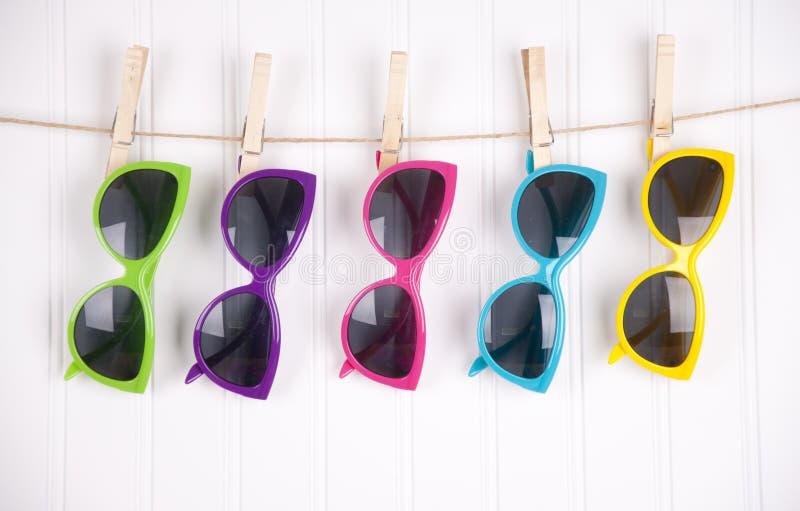 Vibrant Summer Sunglasses stock image
