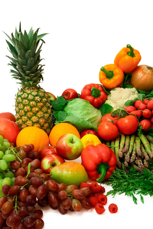 Free Vibrant Vegetables And Fruits Royalty Free Stock Image - 2487856