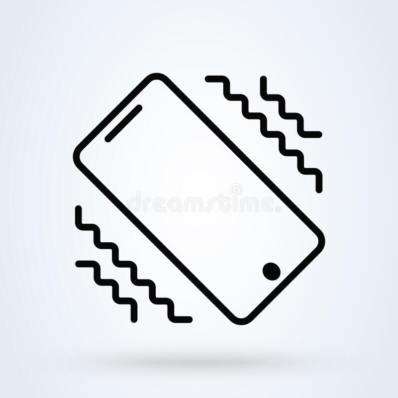 Free Vibrate Phone. Vector Simple Modern Icon Design Illustration Royalty Free Stock Photos - 190656248
