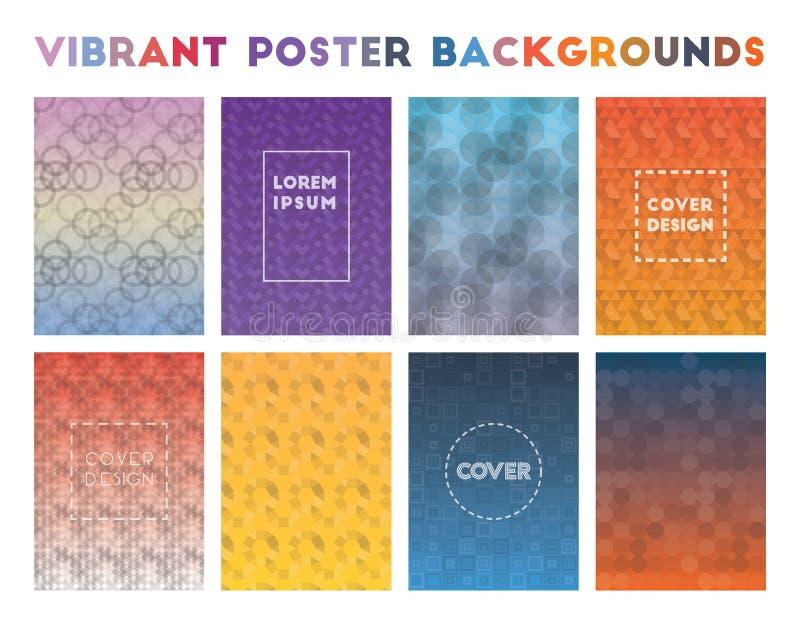 Vibrerande affischbakgrunder vektor illustrationer