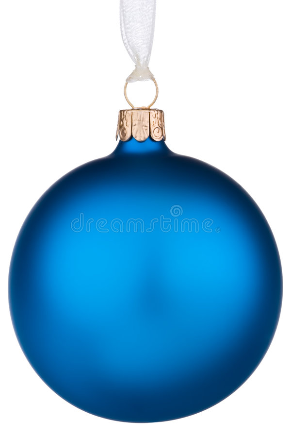 vibrerande blå jul för bauble royaltyfri fotografi