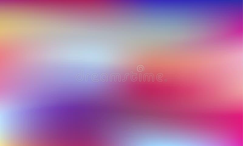 Vibrerande färgrik lutningbakgrund Stil80-tal - 90-tal Färgrik textur i pastell, neonfärg royaltyfri illustrationer
