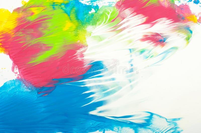 Vibrerande fläckar för färgabstrakt begreppmålarfärg som en abstrakt bakgrund arkivfoto