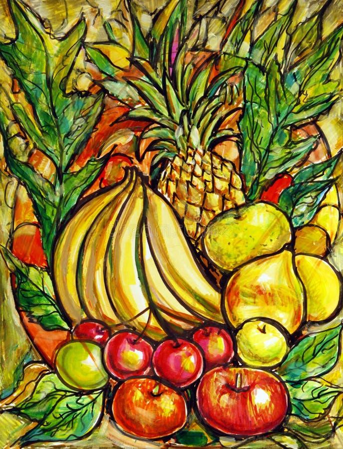 vibrerande frukt royaltyfri illustrationer