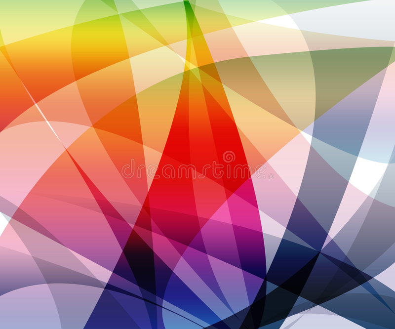 vibrerande waves för färg royaltyfri illustrationer