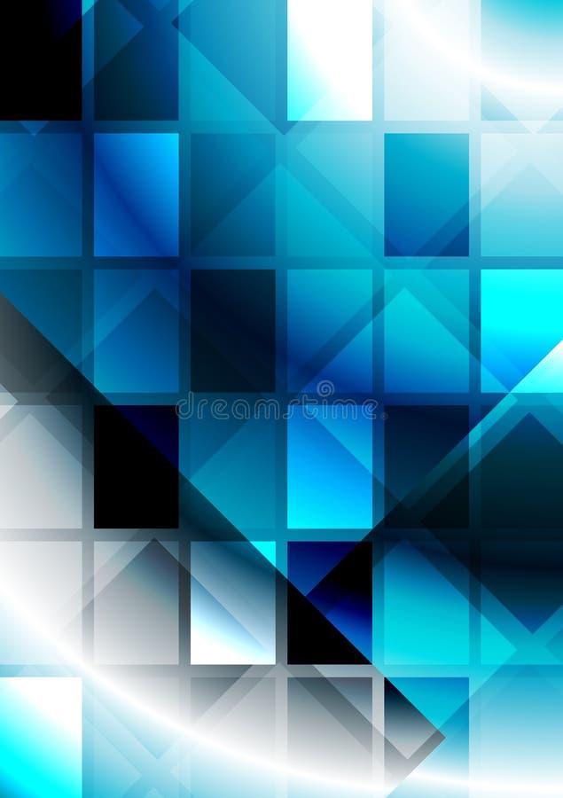 Vibrierende Abstraktion mit Quadraten stock abbildung