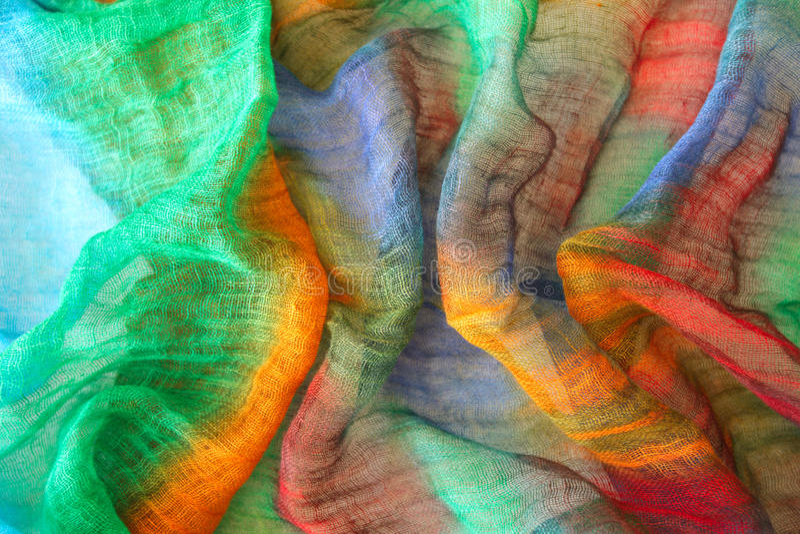 Vibrierende Farben auf Gewebe stockfotos