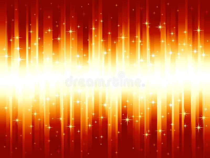 Vibrierende rote goldene festliche Streifen vektor abbildung