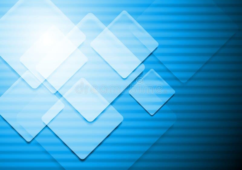 Vibrierender blauer vektorhintergrund stock abbildung