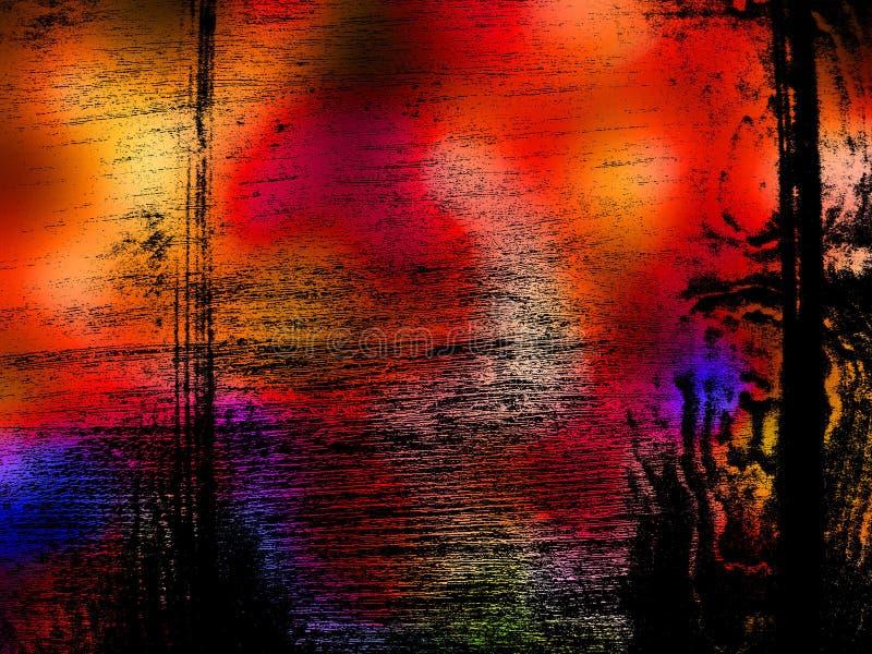 Vibrierender Grunge Hintergrund lizenzfreie abbildung