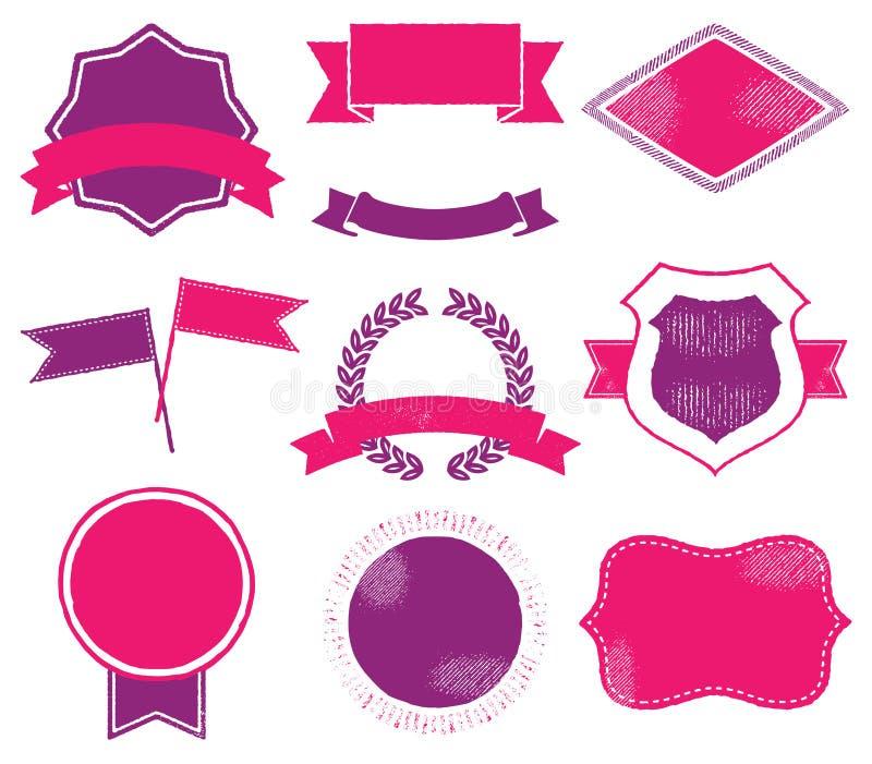 Vibrierender Logo Templates stock abbildung