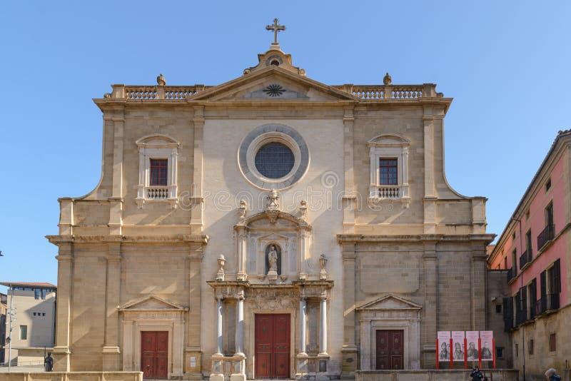 Vic καθεδρικός ναός επίσημα ο καθεδρικός ναός του ST Peter ο απόστολος καταλανικά: Catedral de Sant Pere Apà ² stol, είναι Ρωμαίο στοκ εικόνες