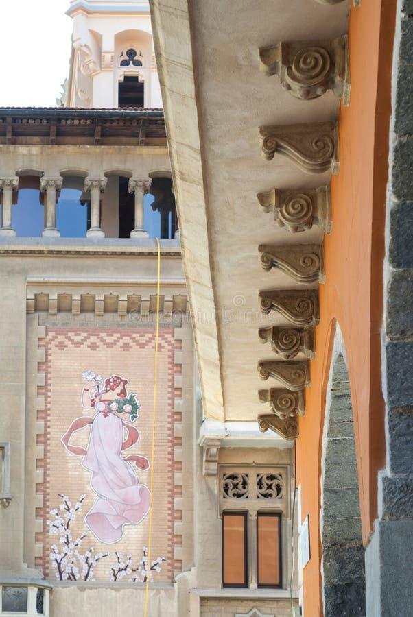Vic (Catalunya, Spanien): historische Gebäude stockbild