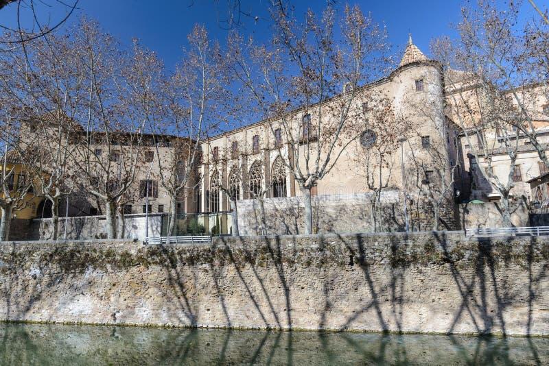 Vic Kathedraal officieel de Kathedraal van St Peter de Apostel Catalaan: Catedral DE Sant Pere ApಠSTOL, is Rooms-katholiek c stock foto's
