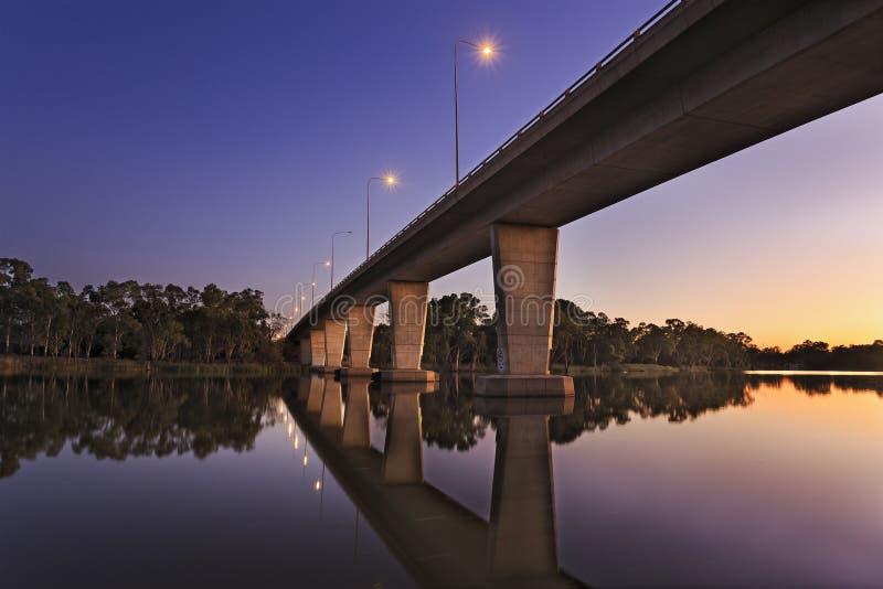VIC Mildura Murray Bridge Sunrise images stock