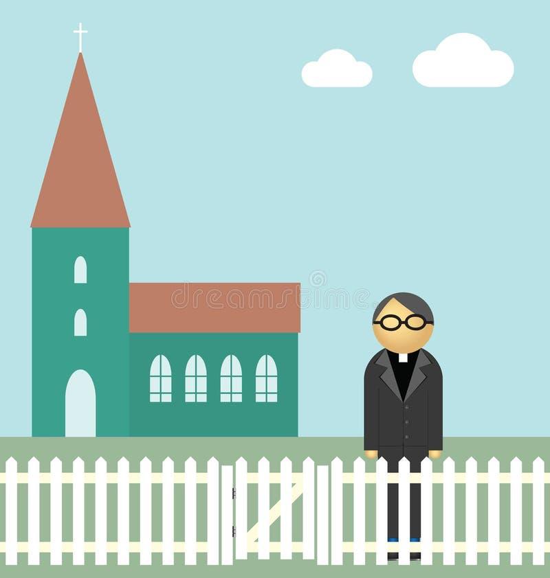 Download Vicar stock vector. Illustration of preacher, ground - 16617593