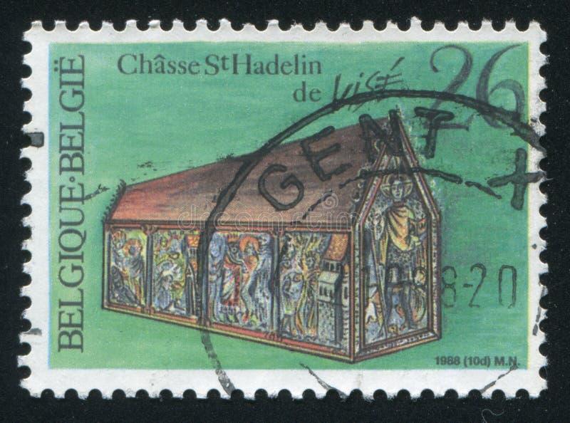 Vice della chiesa di Hadelin del santuario immagine stock