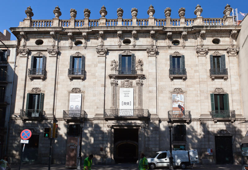 Download Vice King Palace Building Barcelona Spain Editorial Stock Image - Image: 23060279