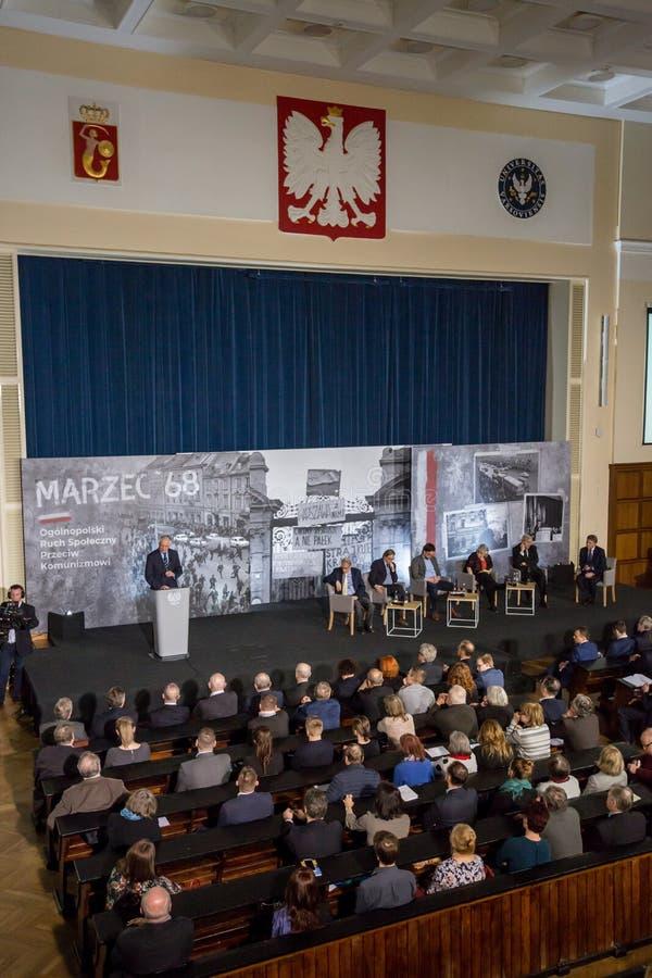 Vice-président du ` 68 de mars du Conseil des ministres, de ministre de la Science et d'enseignement supérieur - Jaroslaw Gowin images stock