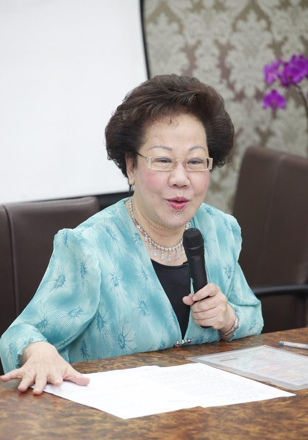 Vice presidente anterior de Taiwán, Annette Lu imagen de archivo