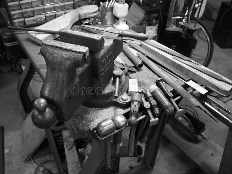 Vice and tools royalty free stock images