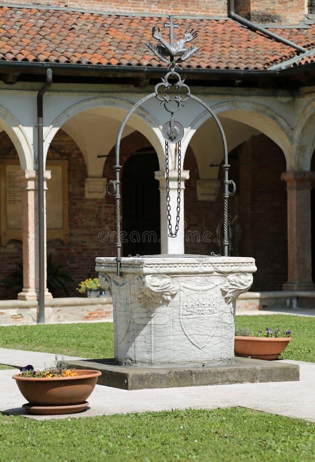 Vicence, Italie - 22 avril 2018 : Cloître du couvent de Sain image libre de droits
