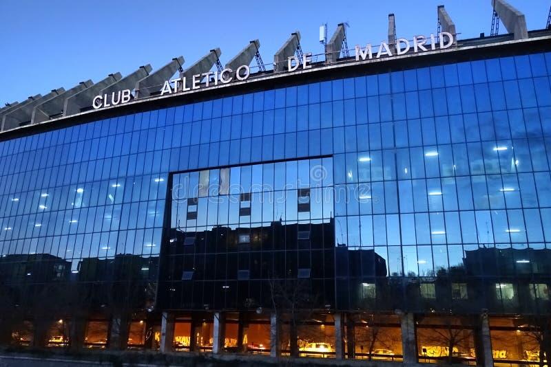 Vicente Calderon Stadium en Madrid, España fotografía de archivo libre de regalías