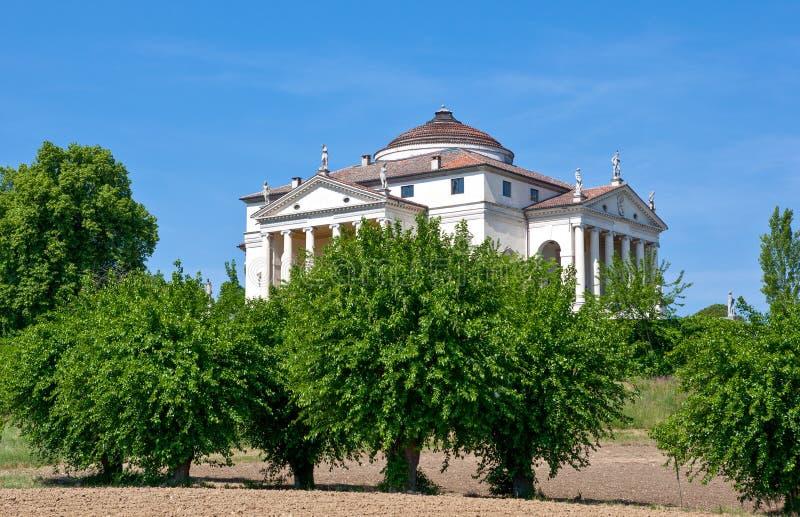 Vicenza en de werkzaamheden van de architect Andrea Palladio stock fotografie