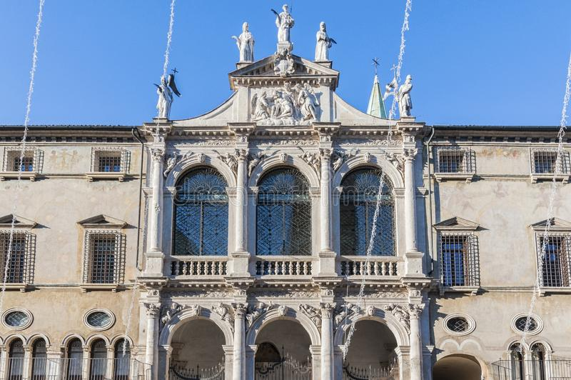 VICENZA, ITALY - DECEMBER 29, 2018: Chiesa San Vincenzo in the central Piazza dei Signori in Vicenza, Italy. royalty free stock photography