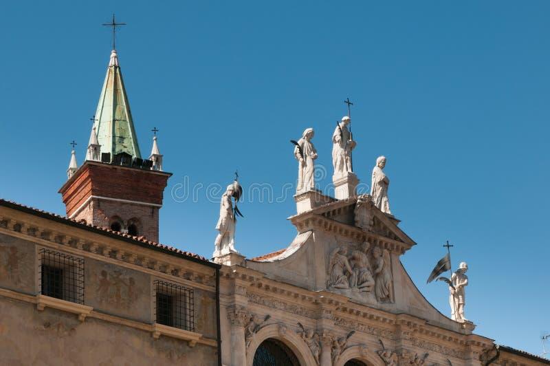 Vicenza kyrkor royaltyfri fotografi