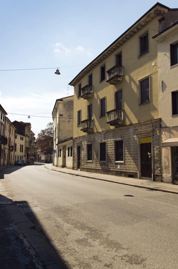 Vicenza Street fotografering för bildbyråer