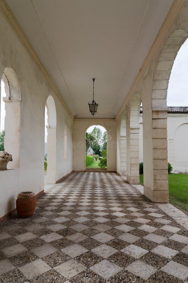 Vicenza, Veneto, Włochy - willa Cordellina Lombardi zdjęcia stock