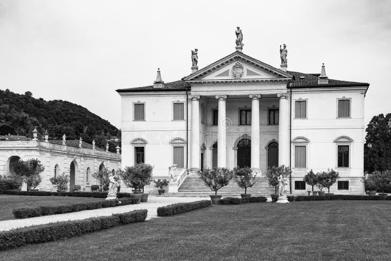 Vicenza, Veneto, Włochy - willa Cordellina Lombardi, budujący w 18t fotografia royalty free