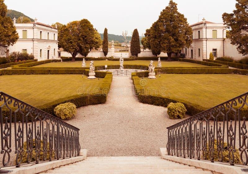 Vicenza, Veneto, Włochy - willa Cordellina Lombardi, budujący w 18t zdjęcia stock
