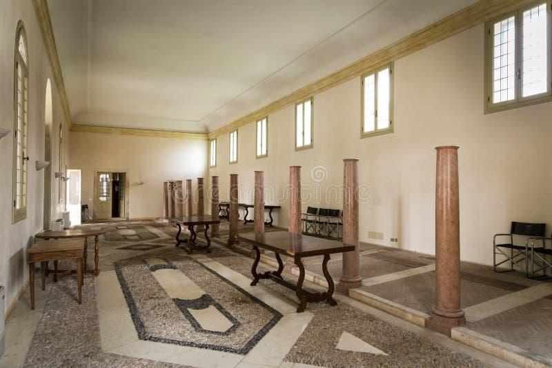 Vicenza, Veneto, Włochy - willa Cordellina Lombardi, budujący w 18t obrazy stock