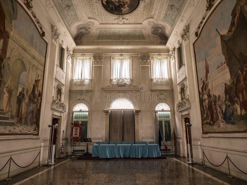 Vicenza, Veneto, Włochy - willa Cordellina Lombardi, budujący w 18t zdjęcie stock