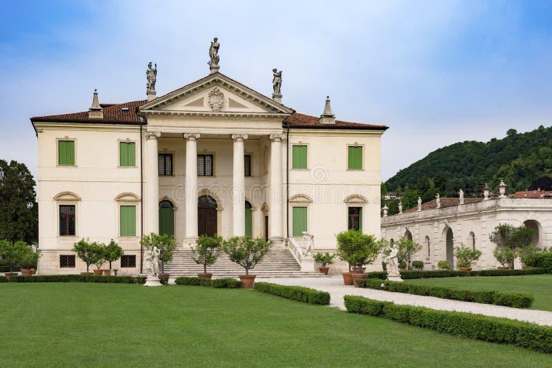 Vicenza, Veneto, Włochy - willa Cordellina Lombardi, budujący w 18t obraz stock