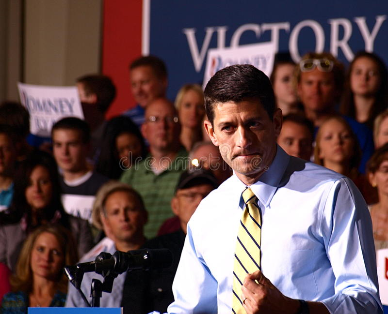 Vicepresidentkandidat Paul Ryan arkivbild