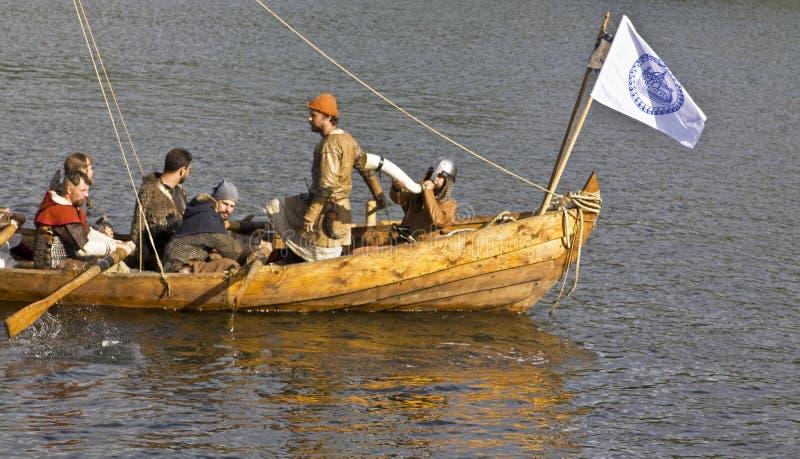 Vichinghi sulla barca immagine stock libera da diritti