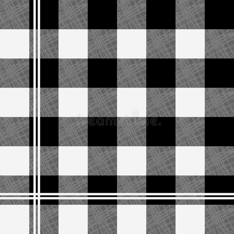 In vichy patroon - geruite naadloze achtergrond stock illustratie