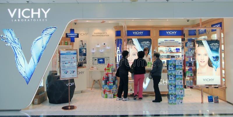 Vichy-Shop in Hong Kong stockfotografie