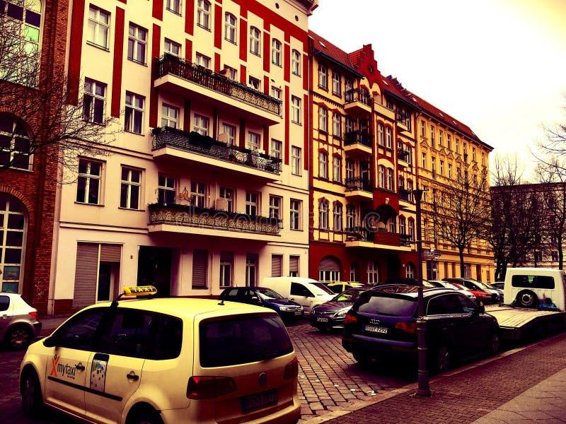Vicinanze residenziali a Berlino, Germania fotografia stock