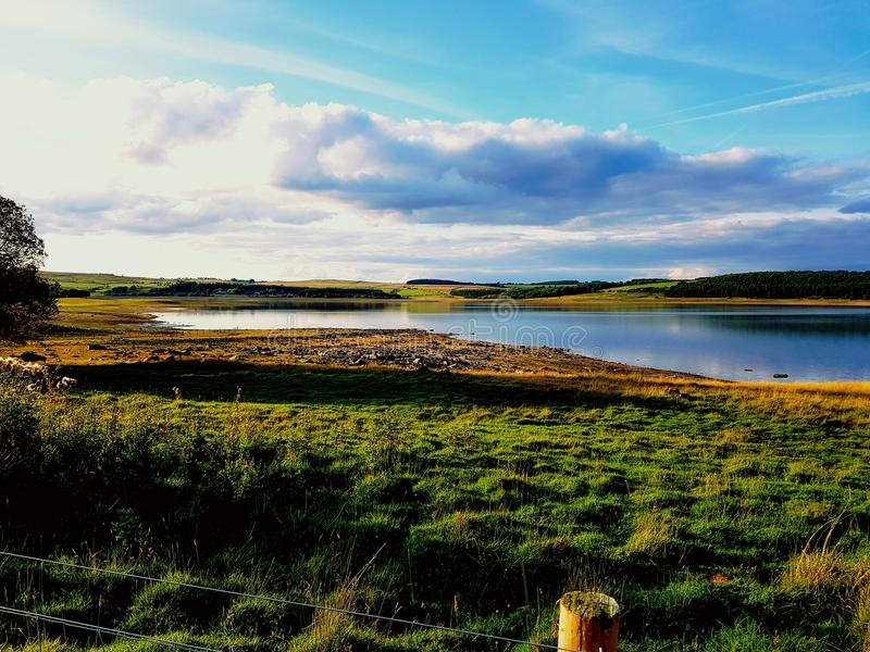 Vicino al bacino idrico di Derwent fotografie stock