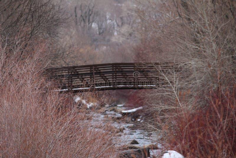Vicino al ponte immagine stock