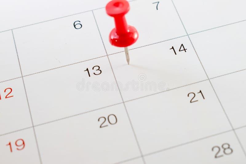 Vicino su, il 14 febbraio 2018 sul calendario immagini stock libere da diritti